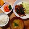 葉ニンニクと豚肉の炒め物