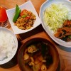 豚肉スタミナ焼き、高野豆腐の炒り煮