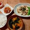 豆腐とひき肉のうま煮、切り干し大根の煮物の献立