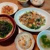炊き込みチャーハン、豚肉小松菜の春雨炒め