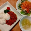 挽肉のスパイシートマト煮
