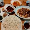 刻み昆布と豚肉生姜焼き